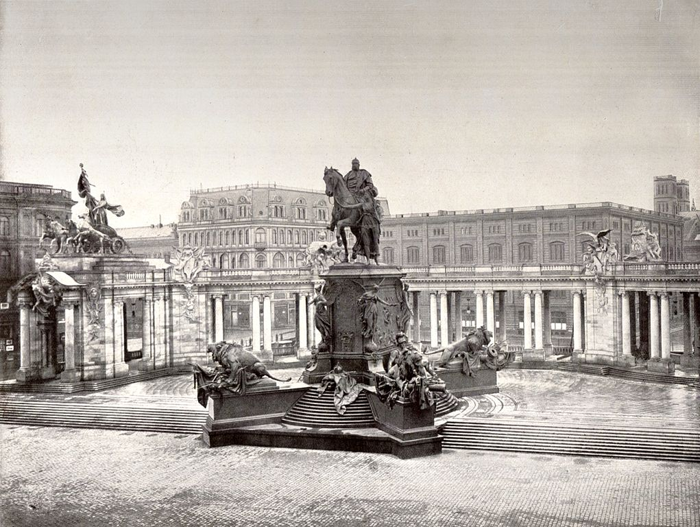 Berlijn rond 1900, monument van Keizer Wilhelm I