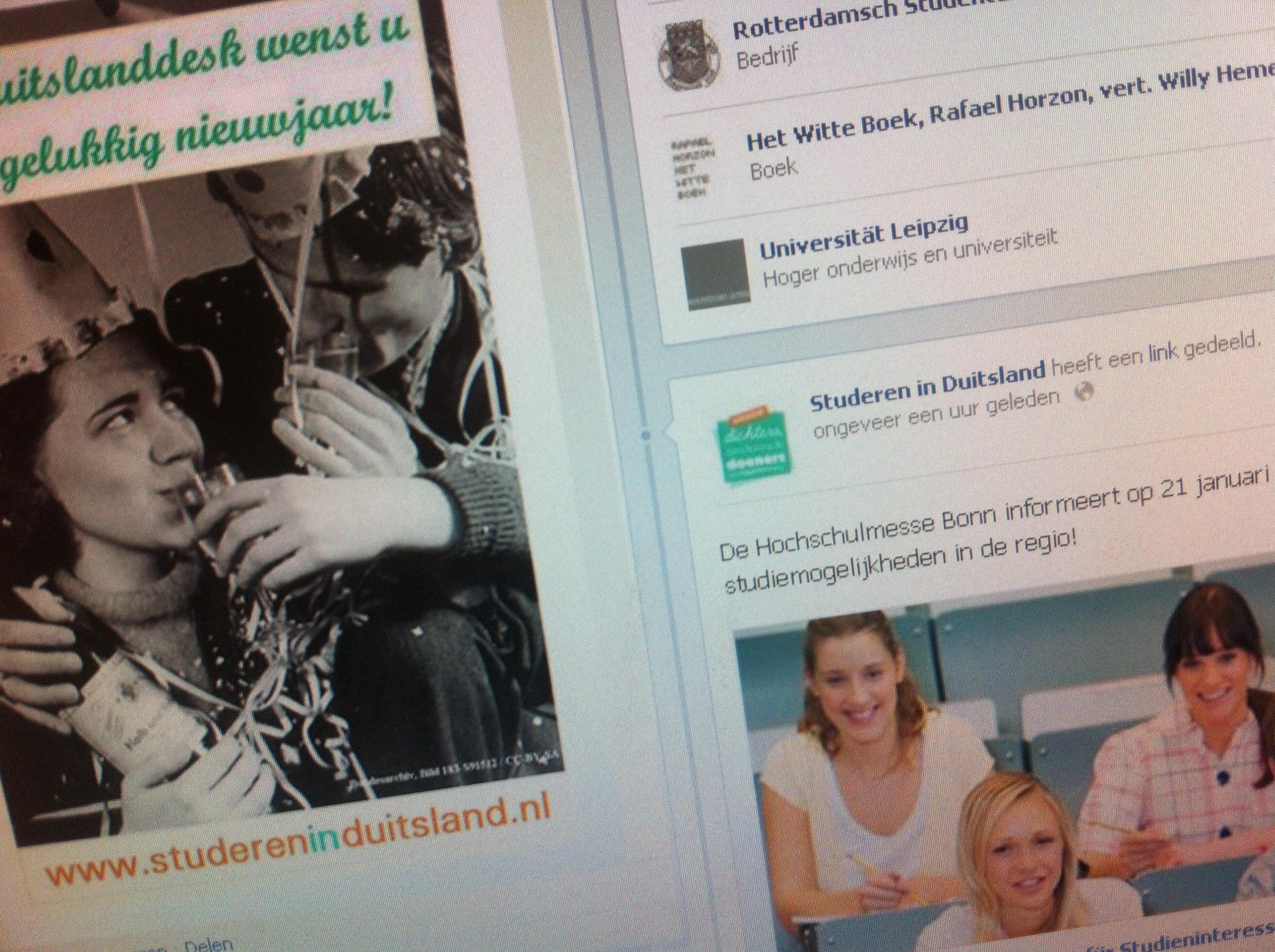 Studeren in Duitsland op Facebook