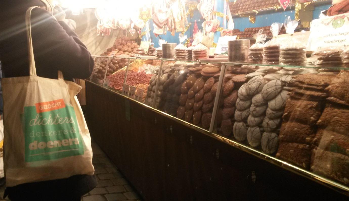Foto van de Nürnberger Christkindlesmarkt, met dank aan Tessa