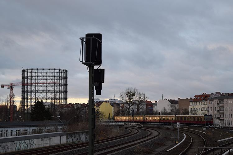 Uitzicht vanaf Berlin Südkreuz waar Arnout het afgelopen half jaar heeft gewoond (Foto: Charlotte van Rooden)