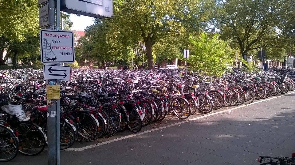 Fietsen in Münster (foto door Björn Breij)