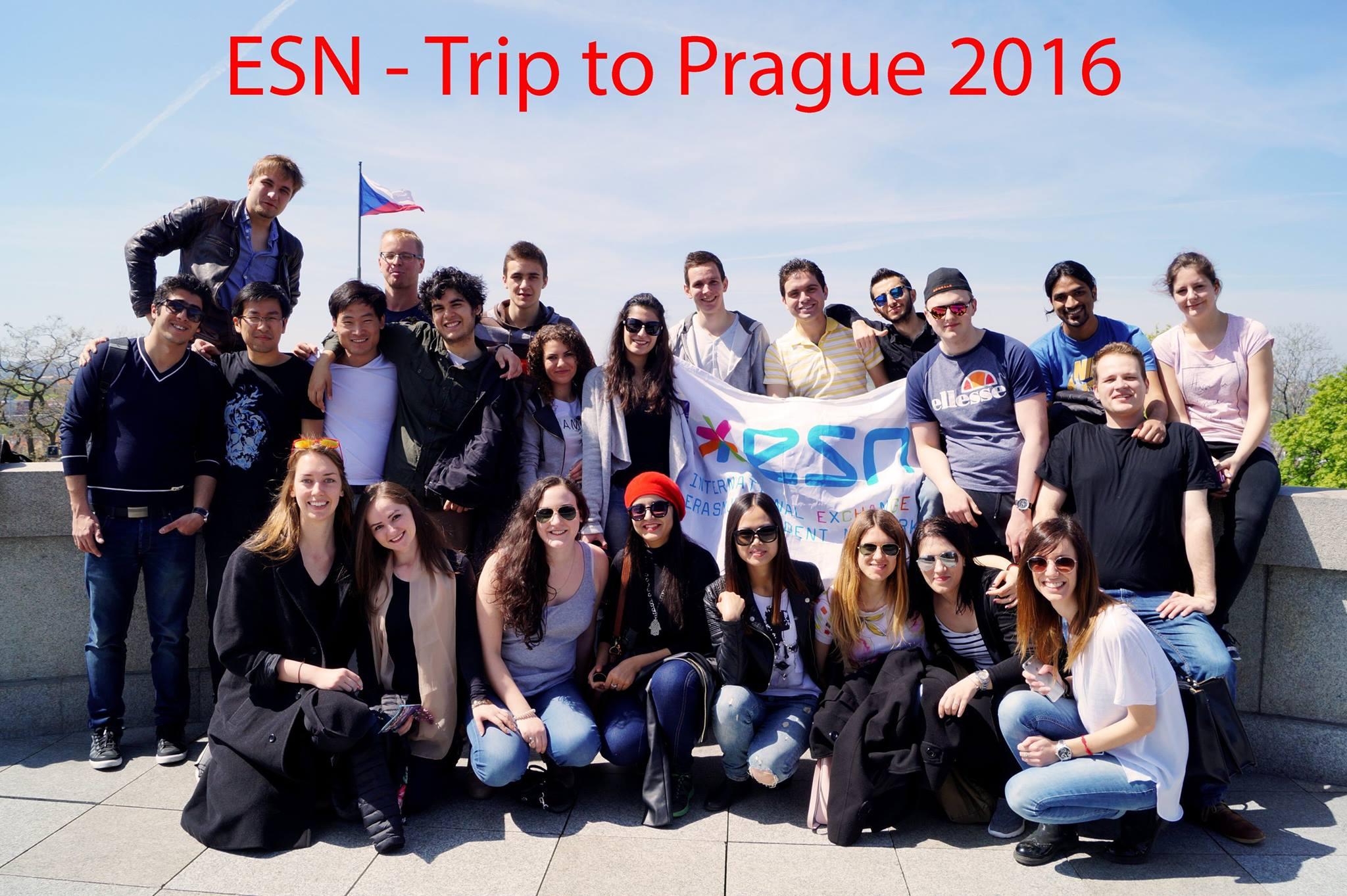 Tijdens haar studieperiode ging Angelique ook met andere internationale studenten naar Praag.