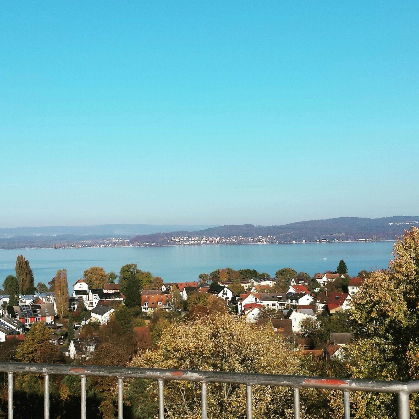 Het uitzicht vanuit de Menza op de Universiteit
