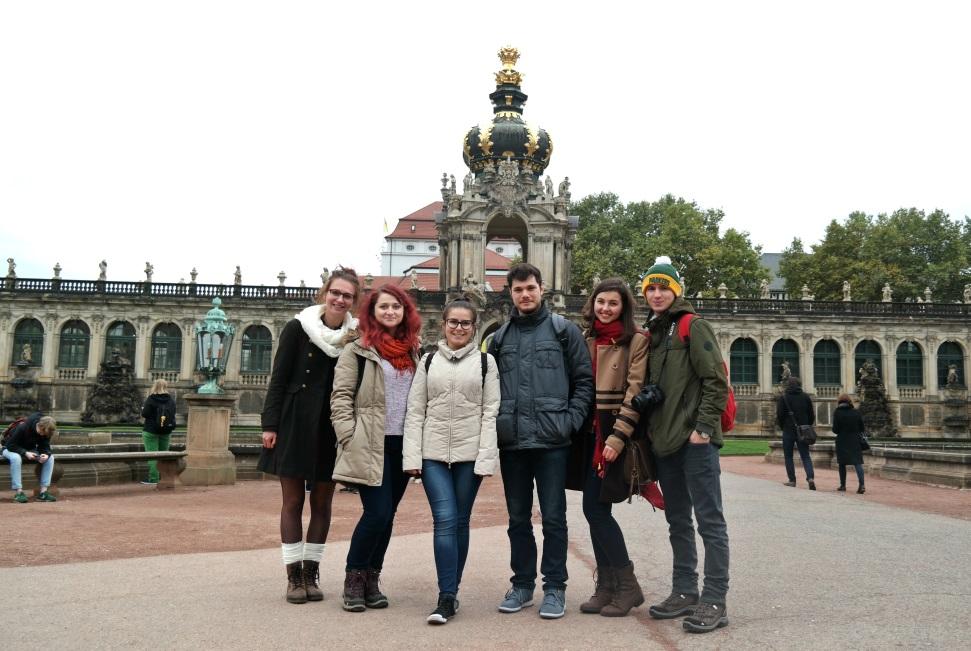 Met vrienden in Dresden