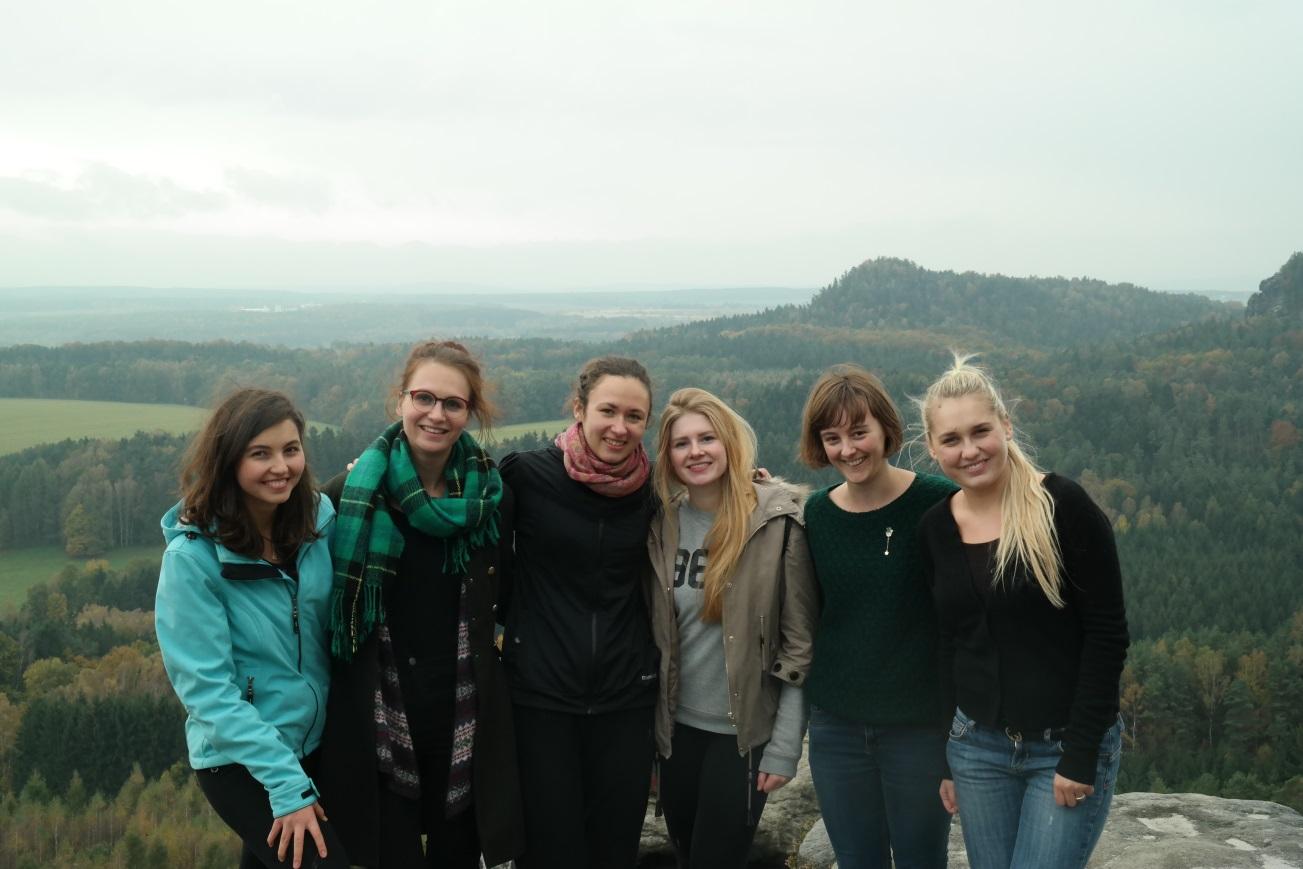 Met vrienden in de Sächsische Schweiz