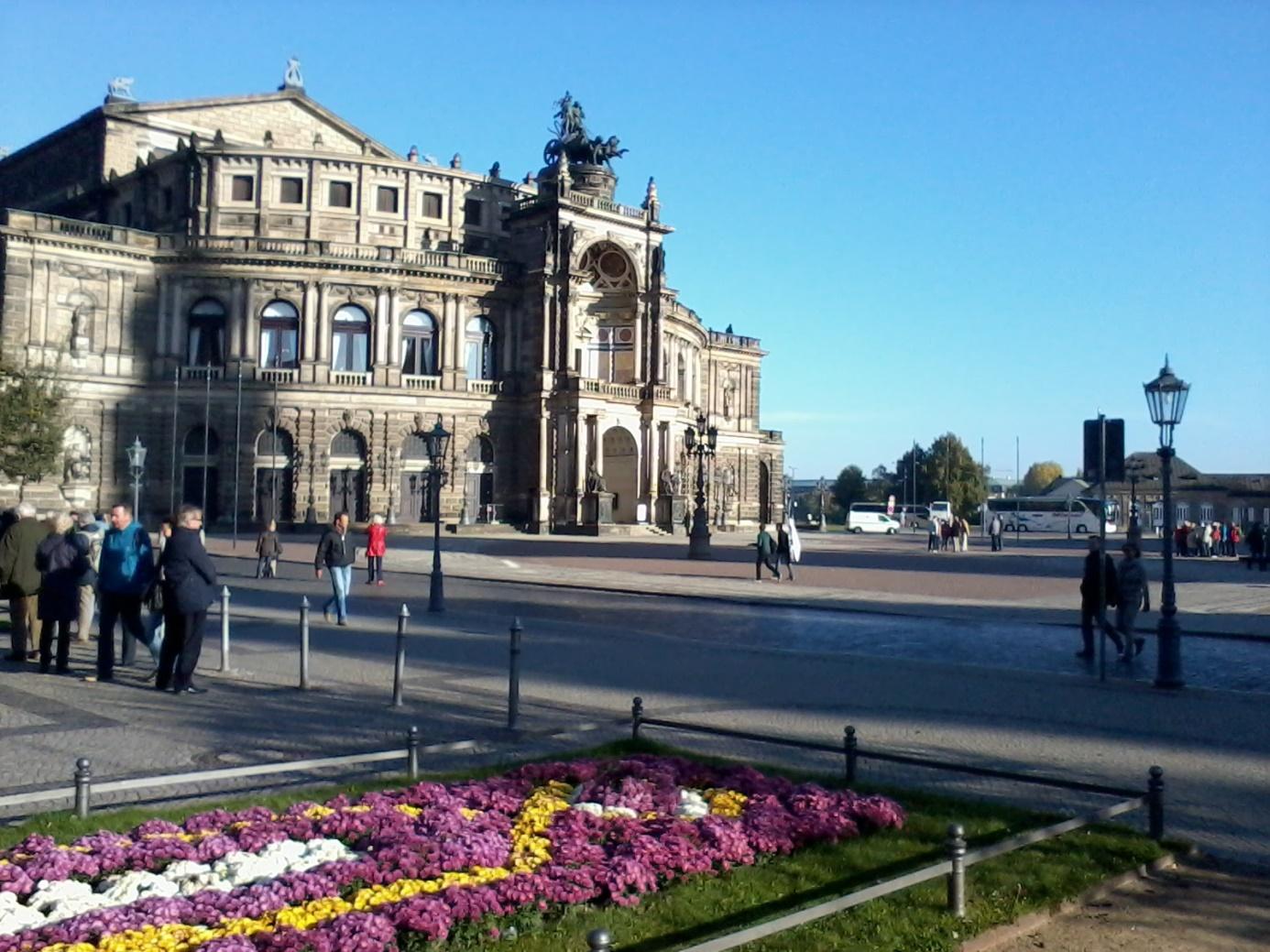In de binnenstad van Dresden (Foto: Alicia Suiker)