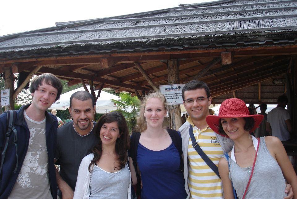 Alicia met studiegenoten in Dresden (Foto: Alicia Suiker)