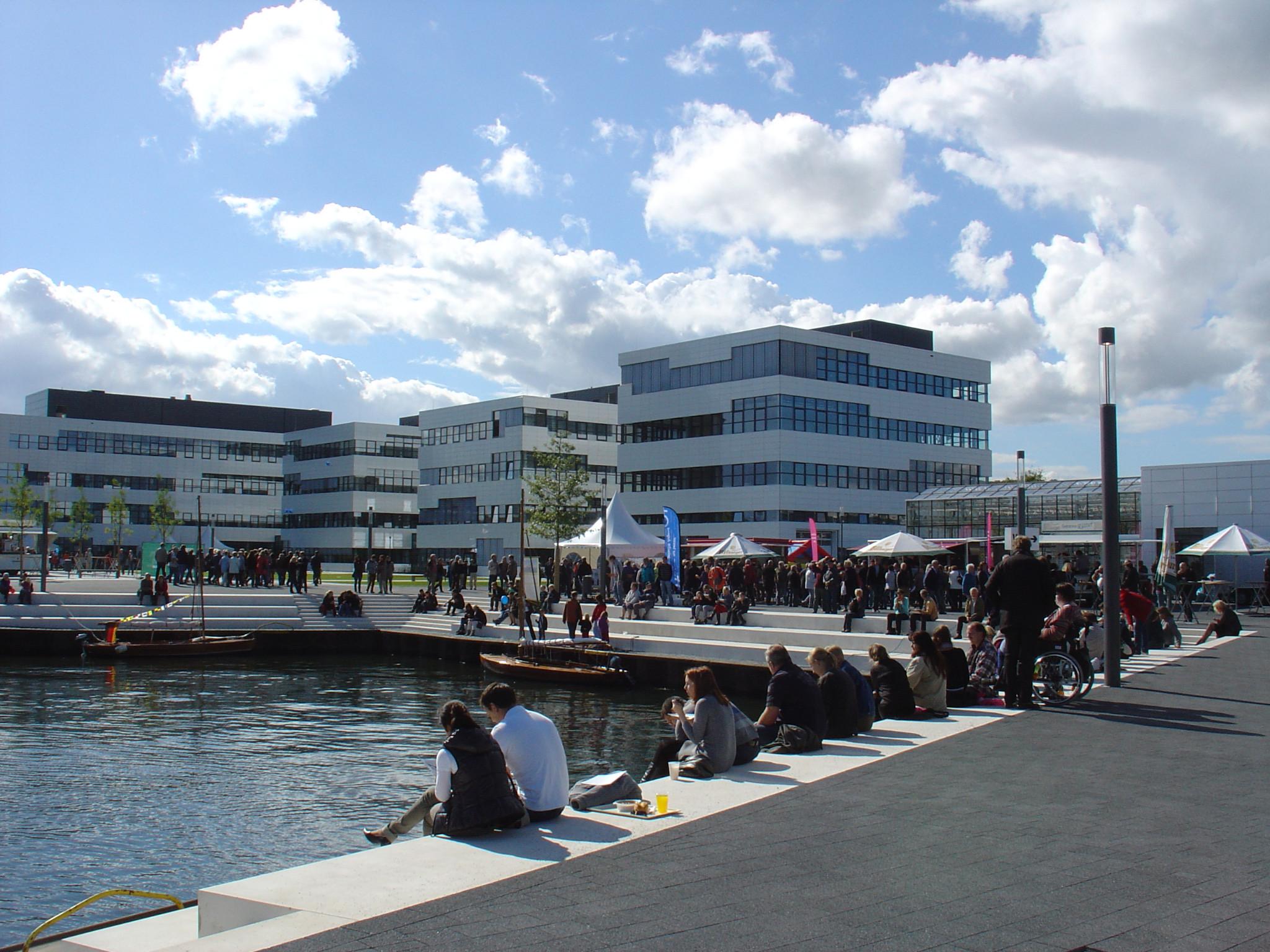 De Campus dvan de Hochschule Rhein-Waal in Kleef.