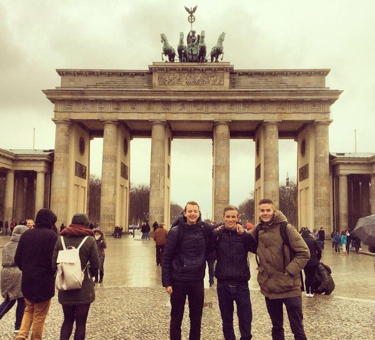 Tripje naar Berlijn, van links naar rechts: Mike, Nick en Arno.