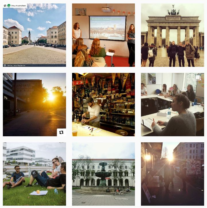 Een kleine indruk: @studereninduitsland op Instagram.